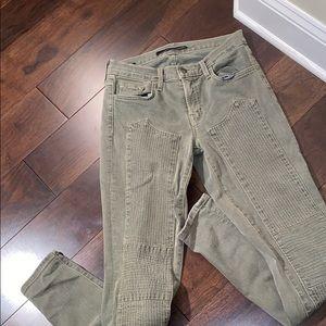 JBrand Green Patterned Jeans